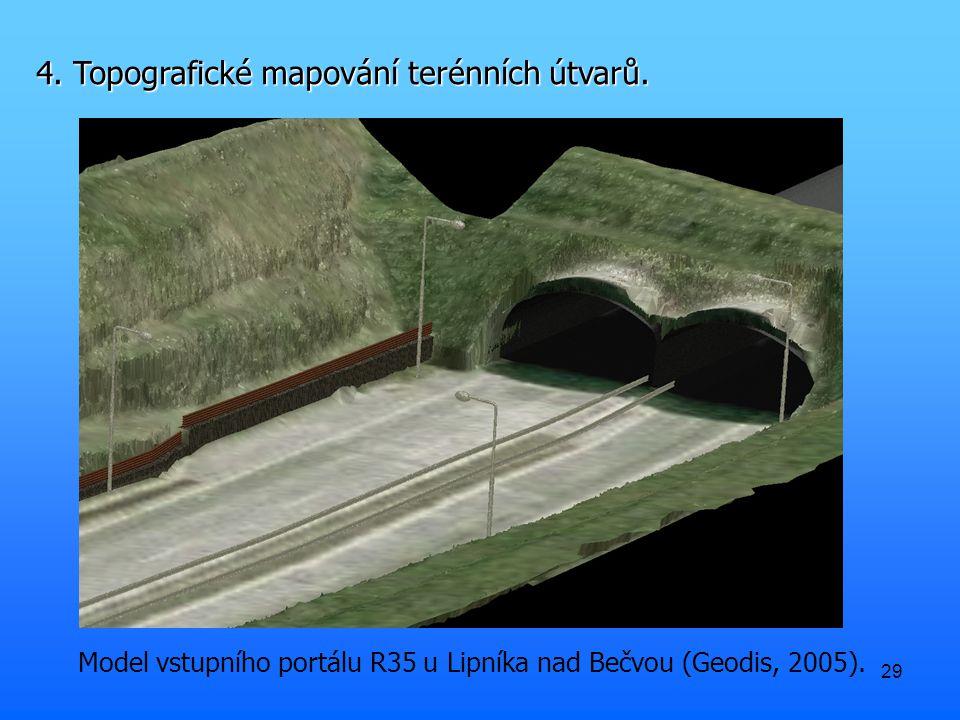 29 Model vstupního portálu R35 u Lipníka nad Bečvou (Geodis, 2005).