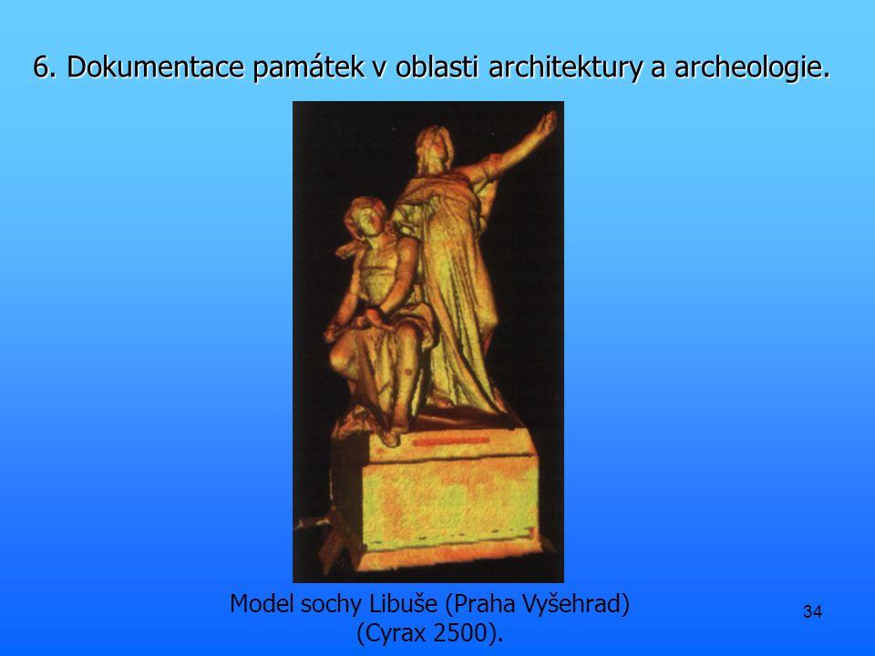 34 Model sochy Libuše (Praha Vyšehrad) (Cyrax 2500).