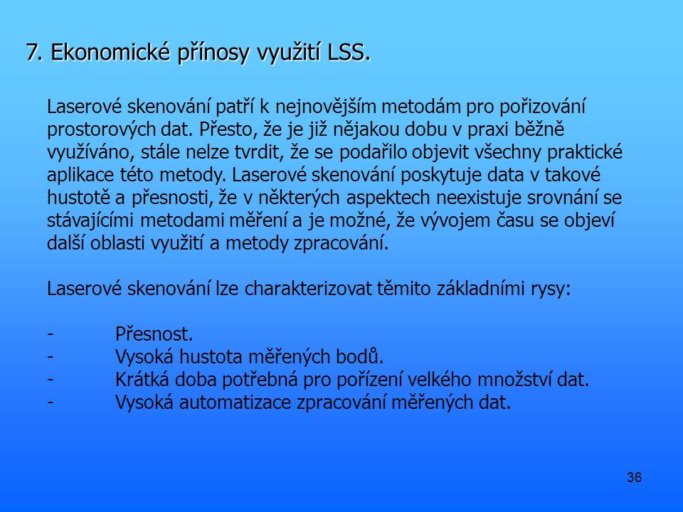 36 7. Ekonomické přínosy využití LSS.