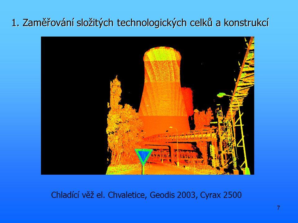 7 1. Zaměřování složitých technologických celků a konstrukcí Chladící věž el.