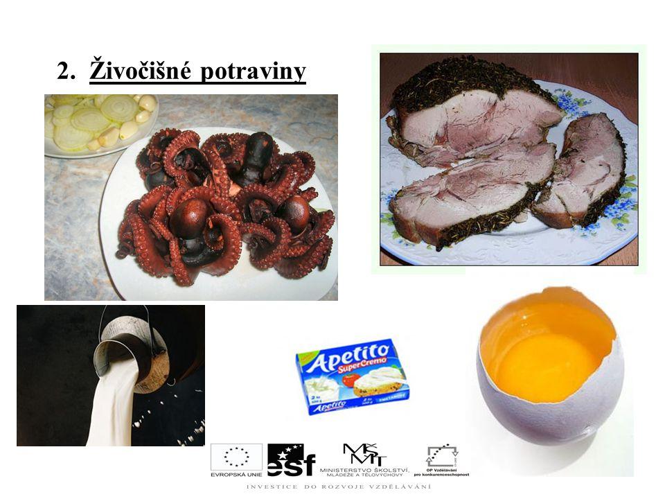 2. Živočišné potraviny