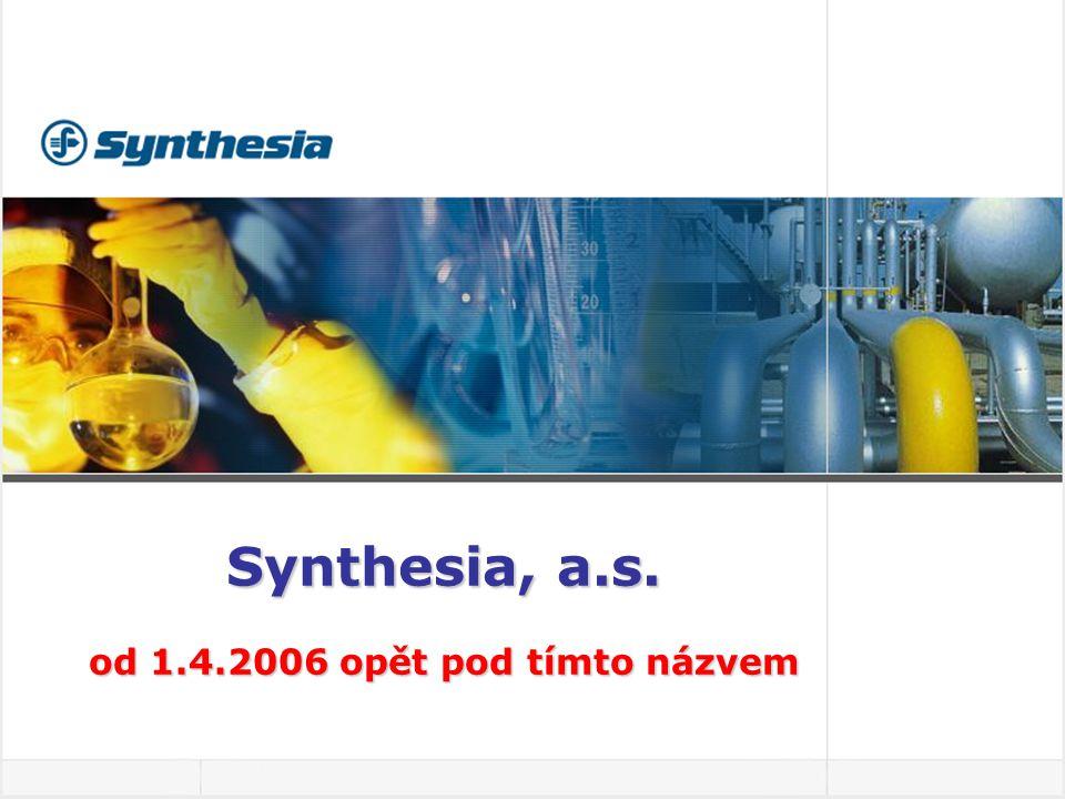Synthesia, a.s. od 1.4.2006 opět pod tímto názvem