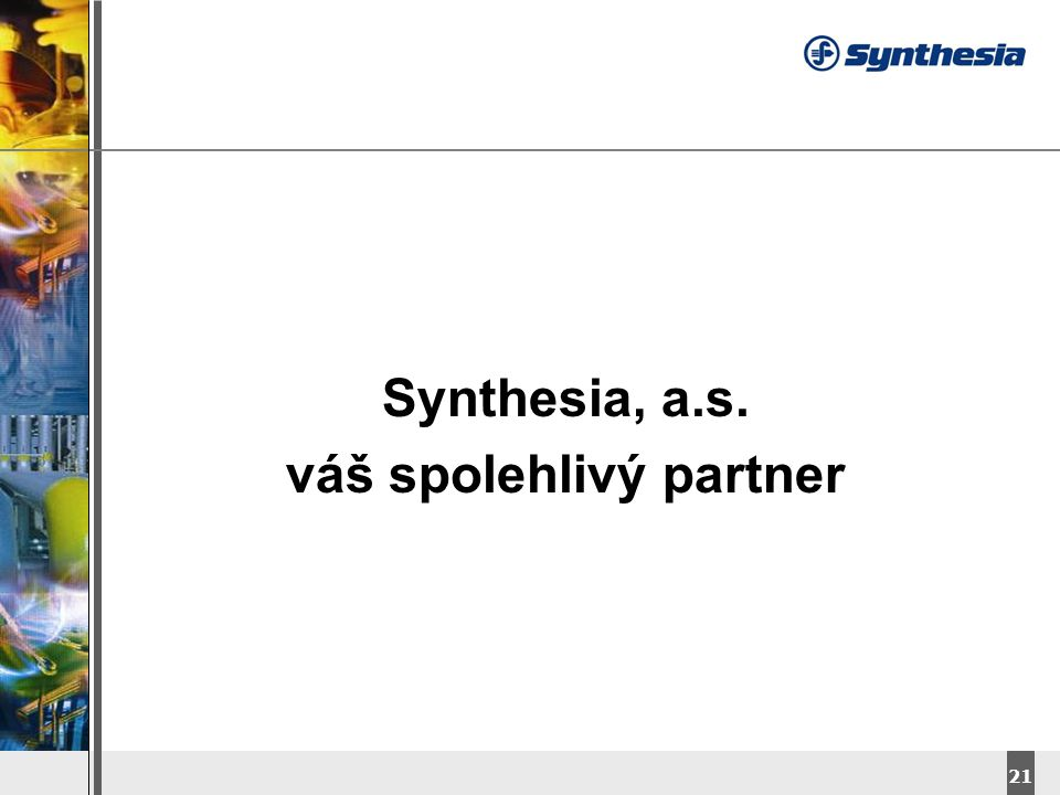 DyStar – Aliachem meeting 21 Synthesia, a.s. váš spolehlivý partner