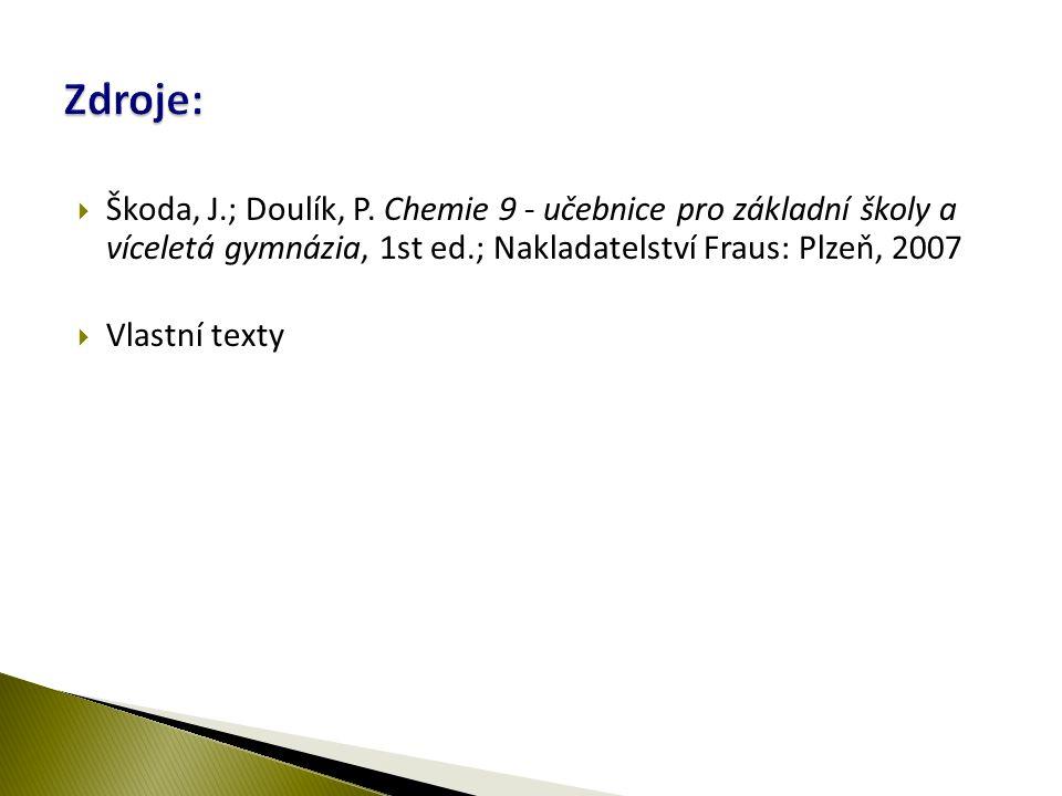  Škoda, J.; Doulík, P.