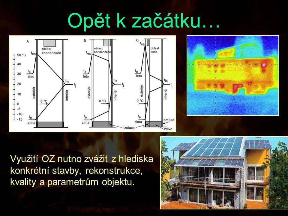 Opět k začátku… Využití OZ nutno zvážit z hlediska konkrétní stavby, rekonstrukce, kvality a parametrům objektu.