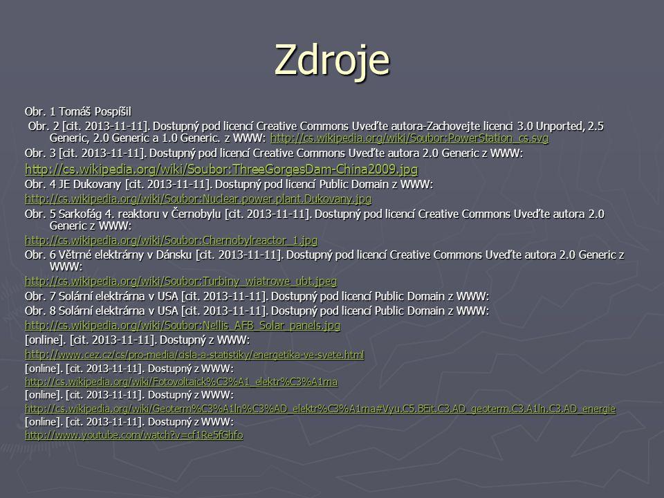 Zdroje Obr. 1 Tomáš Pospíšil Obr. 2 [cit. 2013-11-11]. Dostupný pod licencí Creative Commons Uveďte autora-Zachovejte licenci 3.0 Unported, 2.5 Generi