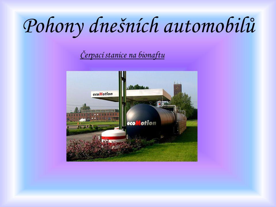 Pohony dnešních automobilů Čerpací stanice na bionaftu