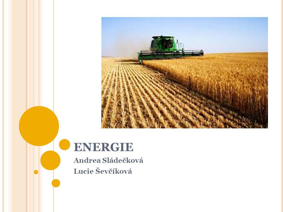 ENERGIE Andrea Sládečková Lucie Ševčíková