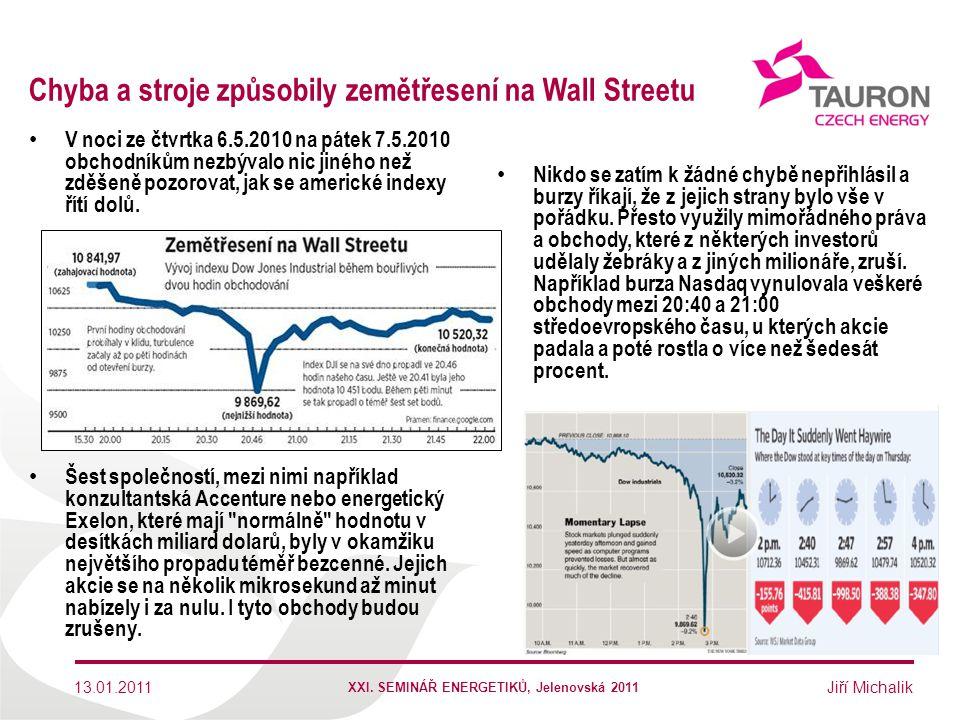 Jiří Michalik Chyba a stroje způsobily zemětřesení na Wall Streetu Nikdo se zatím k žádné chybě nepřihlásil a burzy říkají, že z jejich strany bylo vš