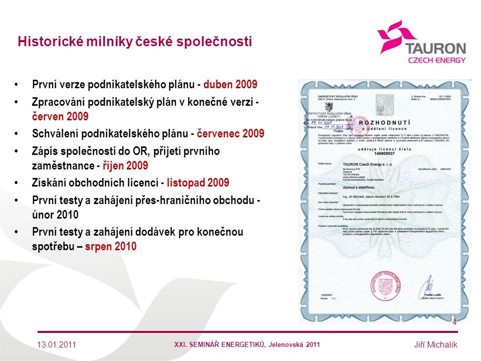 Jiří Michalik První verze podnikatelského plánu - duben 2009 Zpracování podnikatelský plán v konečné verzi - červen 2009 Schválení podnikatelského plá