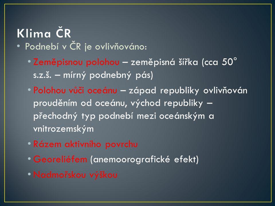 Celkem 11 podoblastí, v ČR pouze 8 Převážná část republiky