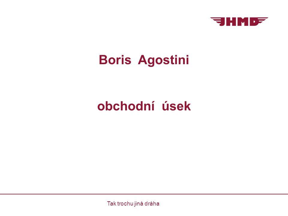 Boris Agostini obchodní úsek Tak trochu jiná dráha