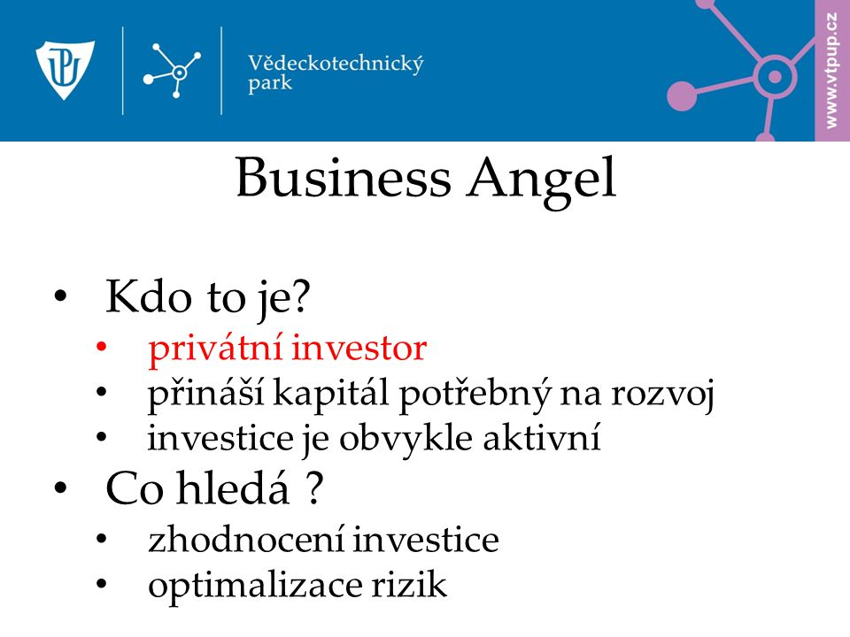 Business Angel Kdo to je.