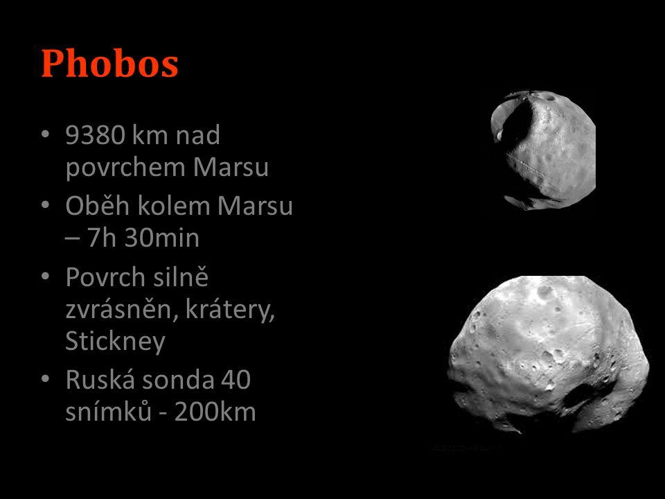 Výzkum USA, RUS Mariner 4 1964 – USA Viking 1971 Mars Global Surveyor – 1996-2006 Mars Odyssey 2001 nález H 2 Spirit (MER-A) a Opportunity (MER-B) – 2003 Phoenix – póly