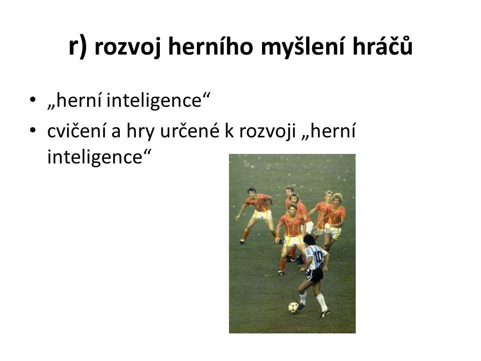 """r) rozvoj herního myšlení hráčů """"herní inteligence cvičení a hry určené k rozvoji """"herní inteligence"""