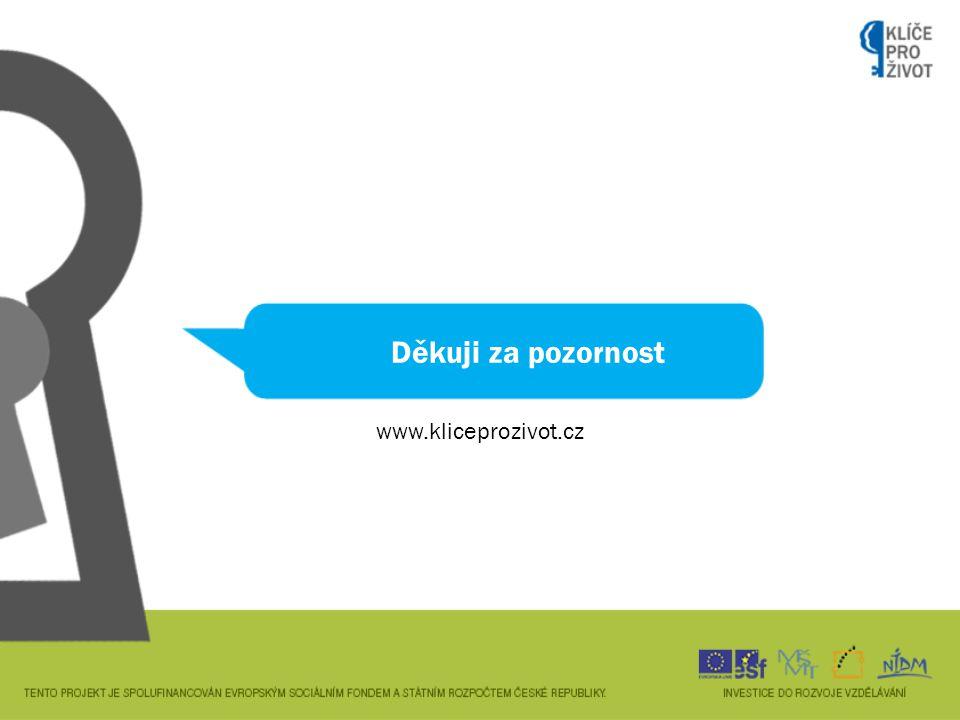 Děkuji za pozornost www.kliceprozivot.cz