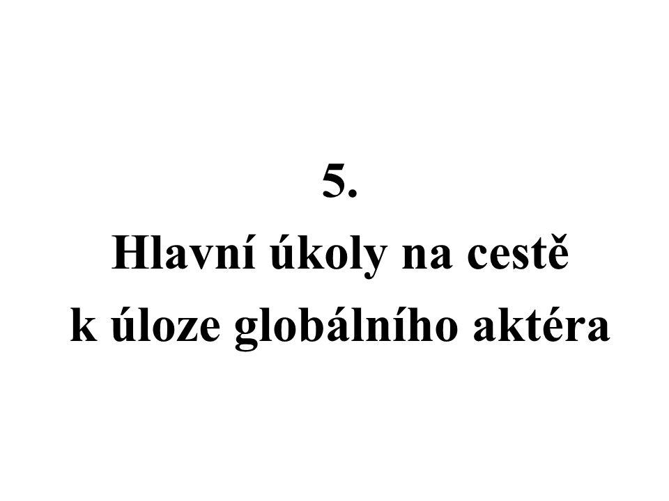 5. Hlavní úkoly na cestě k úloze globálního aktéra