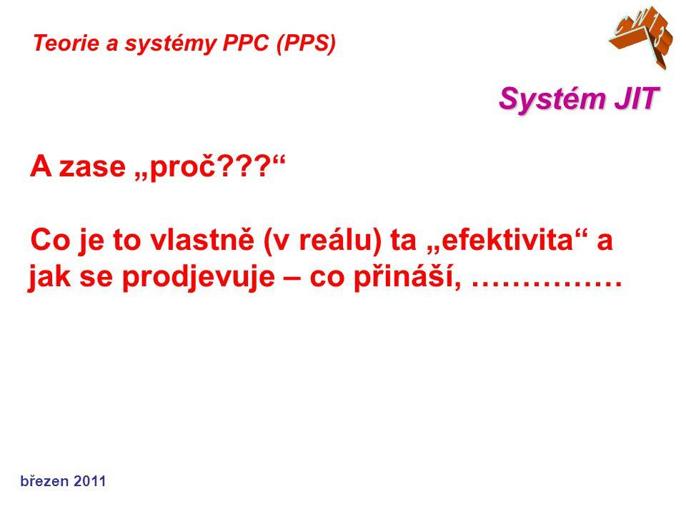 """březen 2011 Systém JIT Teorie a systémy PPC (PPS) A zase """"proč Co je to vlastně (v reálu) ta """"efektivita a jak se prodjevuje – co přináší, ……………"""