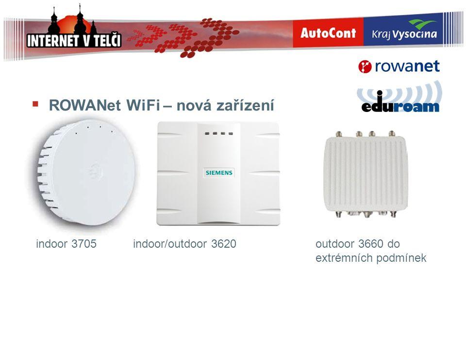 ROWANet WiFi – nová zařízení indoor 3705 indoor/outdoor 3620 outdoor 3660 do extrémních podmínek