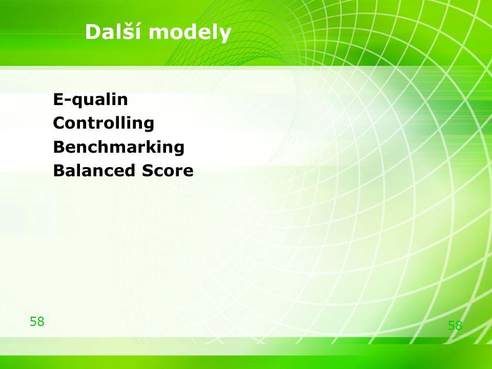 58 E-qualin Controlling Benchmarking Balanced Score Další modely