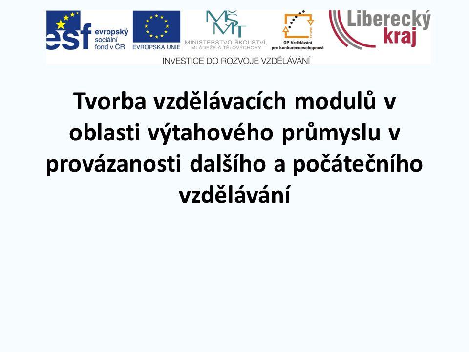 Tvorba vzdělávacích modulů v oblasti výtahového průmyslu v provázanosti dalšího a počátečního vzdělávání
