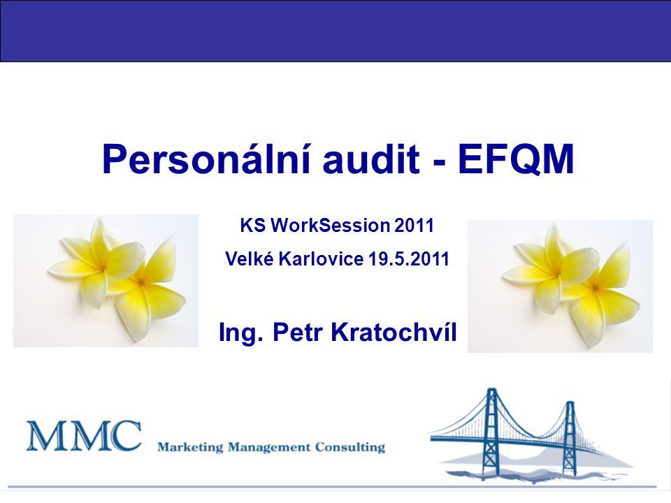 Personální audit - EFQM KS WorkSession 2011 Velké Karlovice 19.5.2011 Ing. Petr Kratochvíl