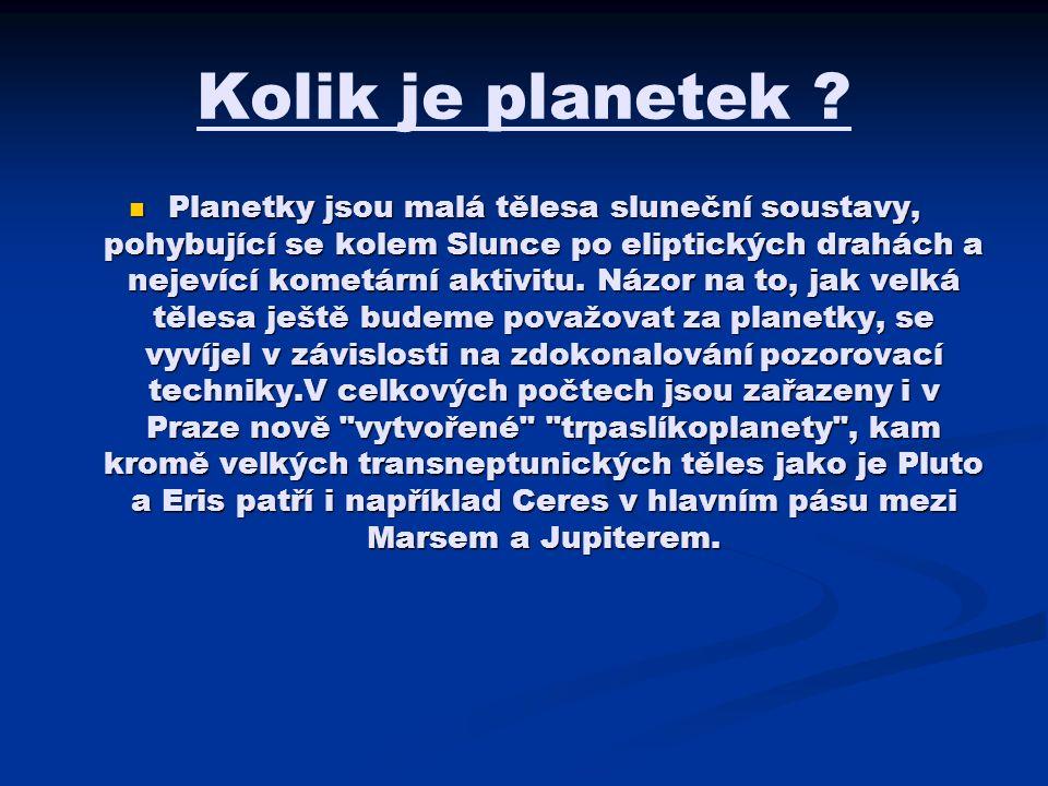Kolik je planetek .