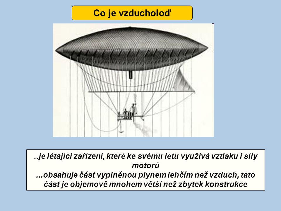 ..je létající zařízení, které ke svému letu využívá vztlaku i síly motorů...obsahuje část vyplněnou plynem lehčím než vzduch, tato část je objemově mn