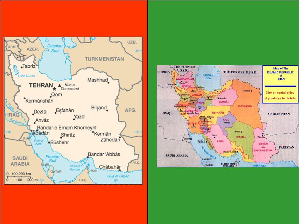 Izrael: Irán podporuje Hamás (Palestina) a Hizballáh (Libabon) ve válce proti Izraeli (Iránská revoluční garda) Jaderný program: Spor s OSN, MAAE, USA -obohacování uranu, stavba jaderné elektrárny v Bušehru, výroba atomové zbraně