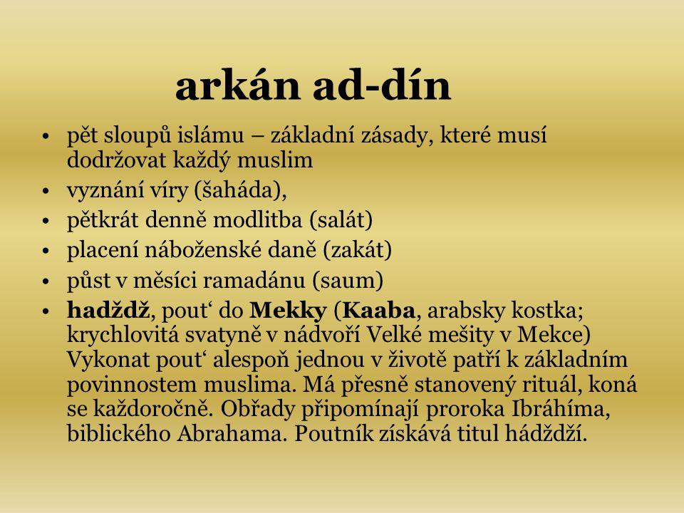 KORÁN: - arabsky čtení, přednes; základní kniha islámu; podle víry muslimů autentické, věcné, nestvořené Boží slovo, zjevené proroku Muhammadovi.