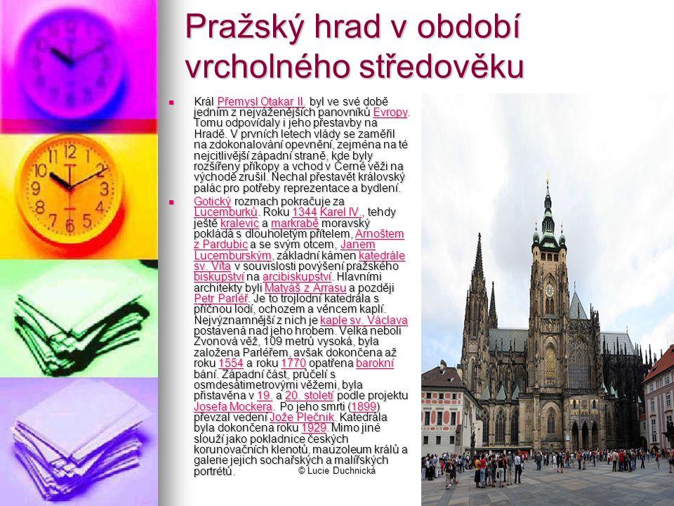 © Lucie Duchnická Pražský hrad v období vrcholného středověku Král Přemysl Otakar II.