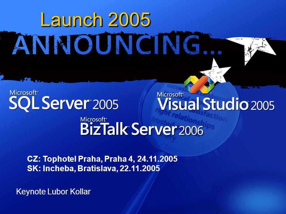 Launch 2005 CZ: Tophotel Praha, Praha 4, 24.11.2005 SK: Incheba, Bratislava, 22.11.2005 Keynote Lubor Kollar