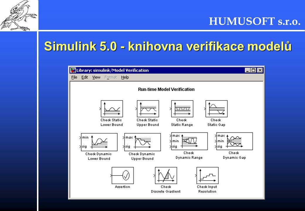 HUMUSOFT s.r.o. Simulink 5.0 - knihovna verifikace modelů