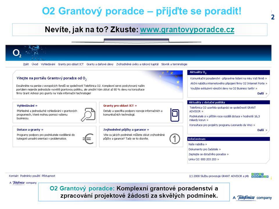 12/10/2006Confidential Slide12 O2 Grantový poradce – přijďte se poradit! Nevíte, jak na to? Zkuste: www.grantovyporadce.czwww.grantovyporadce.cz O2 Gr