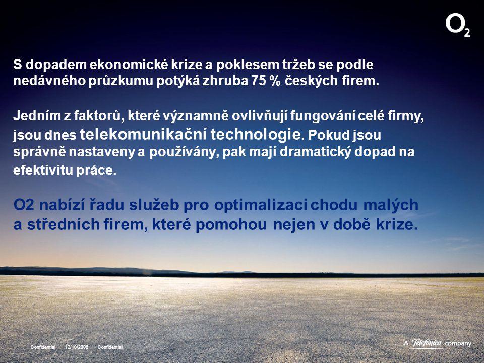 Confidential 12/10/2006 Confidential S dopadem ekonomické krize a poklesem tržeb se podle nedávného průzkumu potýká zhruba 75 % českých firem. Jedním