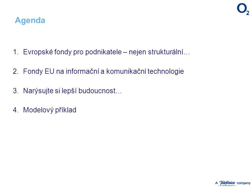 Agenda 1. Evropské fondy pro podnikatele – nejen strukturální… 2. Fondy EU na informační a komunikační technologie 3. Narýsujte si lepší budoucnost… 4