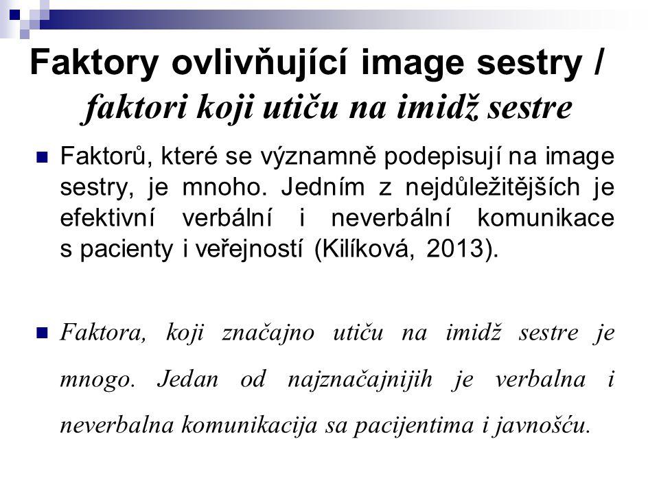 Faktory ovlivňující image sestry / faktori koji utiču na imidž sestre Faktorů, které se významně podepisují na image sestry, je mnoho. Jedním z nejdůl
