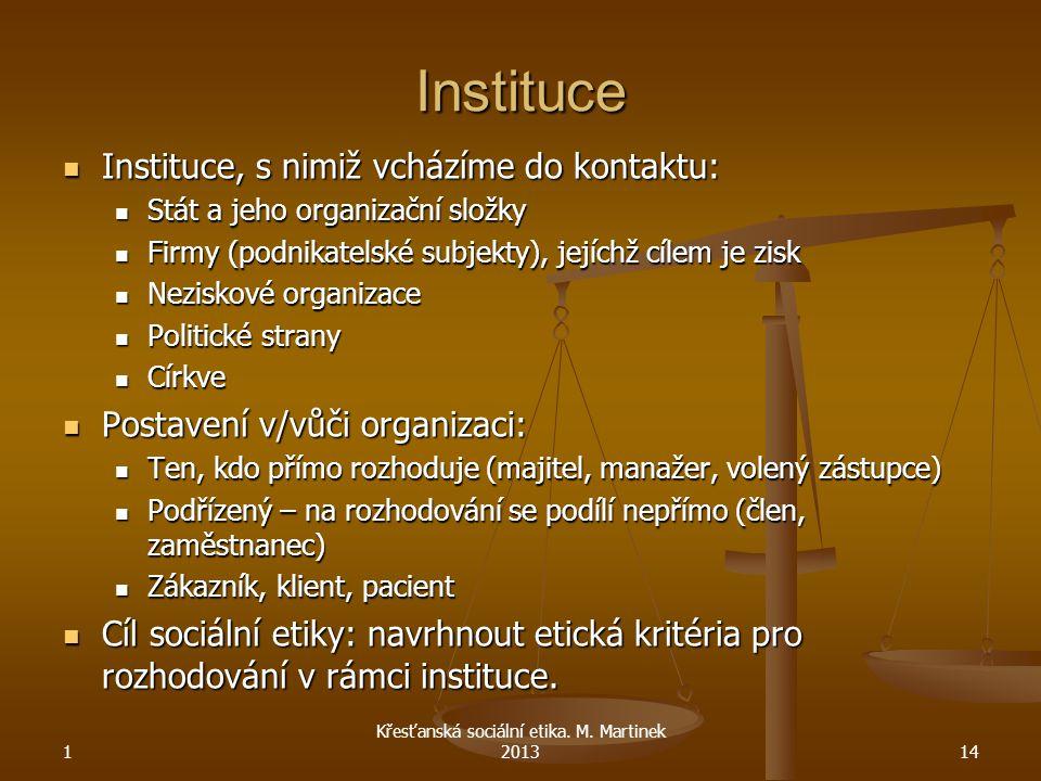 Instituce Instituce, s nimiž vcházíme do kontaktu: Instituce, s nimiž vcházíme do kontaktu: Stát a jeho organizační složky Stát a jeho organizační slo
