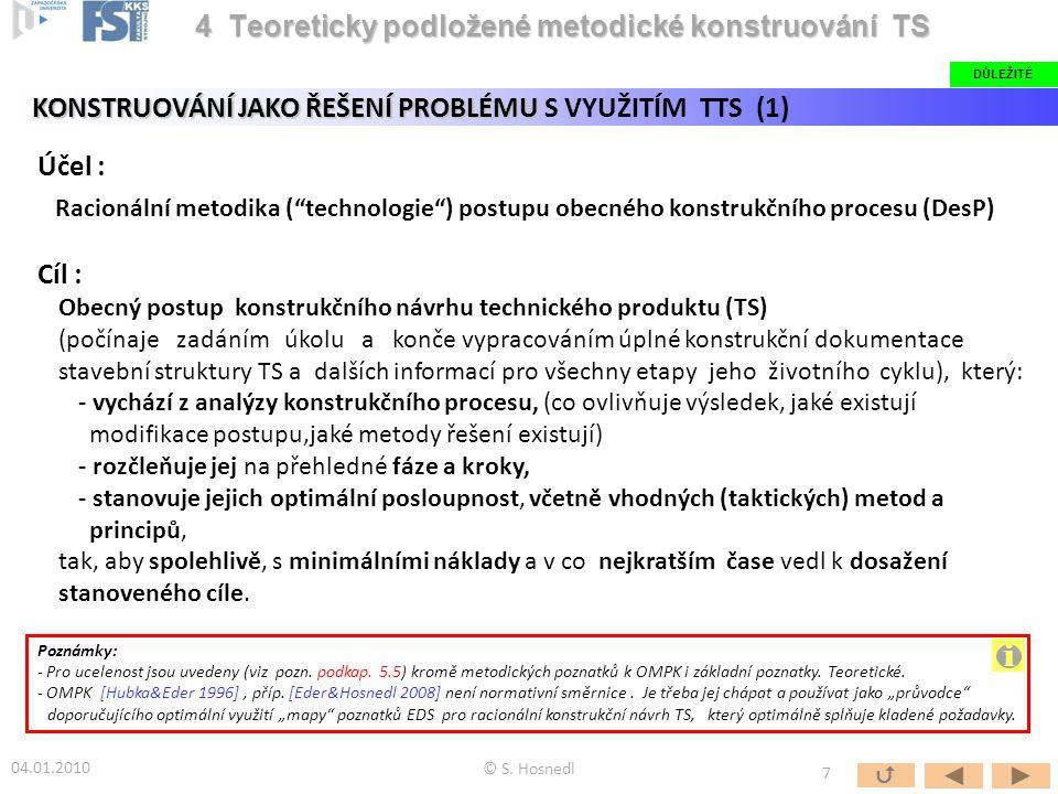"""Účel : Racionální metodika (""""technologie"""") postupu obecného konstrukčního procesu (DesP) Cíl : Obecný postup konstrukčního návrhu technického produktu"""