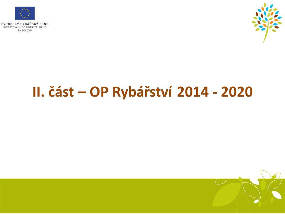 Recirkulační systém II. část – OP Rybářství 2014 - 2020