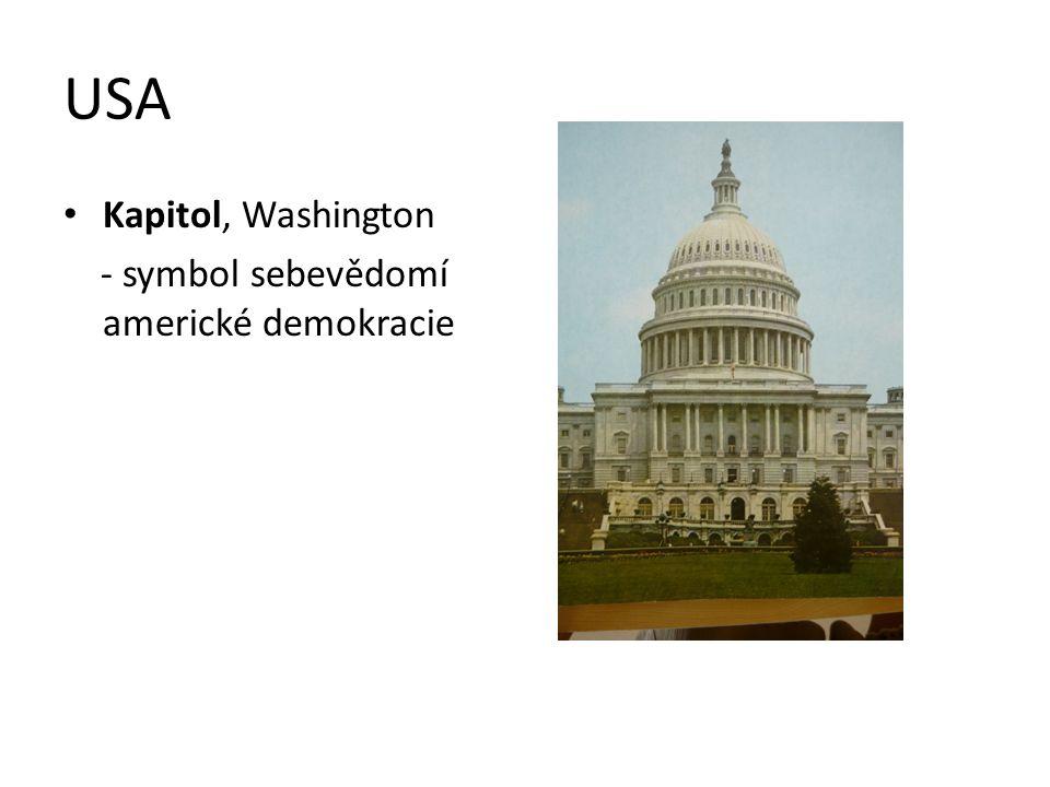 USA Kapitol, Washington - symbol sebevědomí americké demokracie
