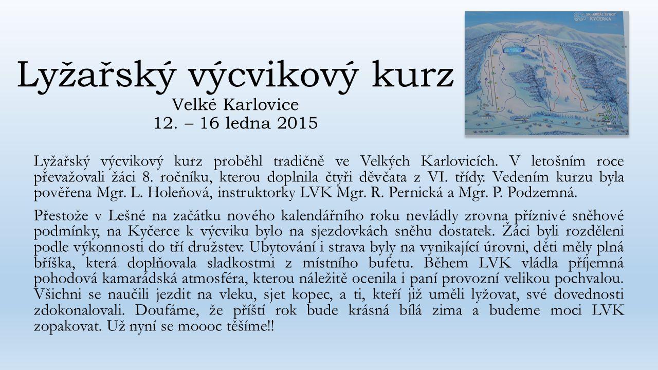 Lyžařský výcvikový kurz Velké Karlovice 12.
