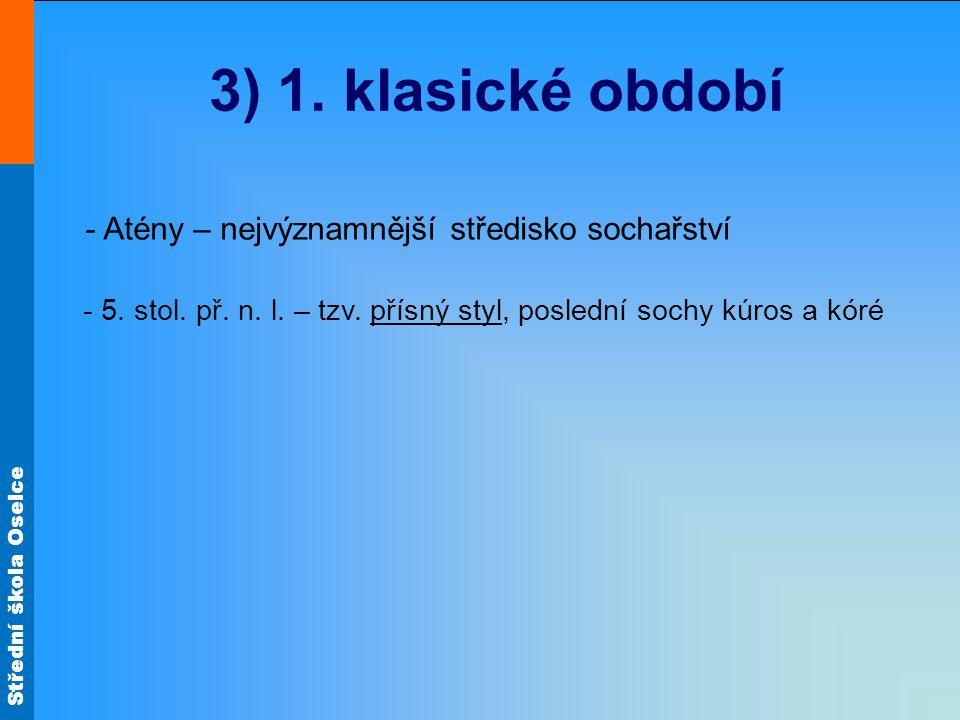 Střední škola Oselce Památky 1. klasického období Trůn Ludovisiů - zrození Afrodity (reliéf) Obr. 5