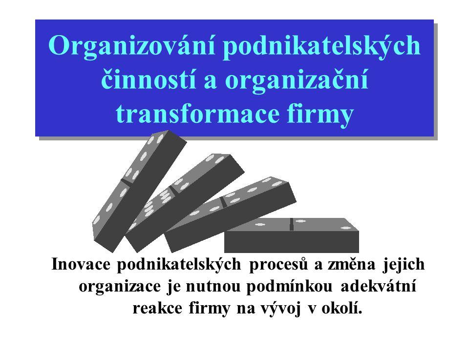 Organizační transformace se musí zaměřit na aspekty podnikatelské strategie a firemní kultury, nikoliv na aspekty manažerských systémů, programů, politik a a procedur výkonu pracovních činností.