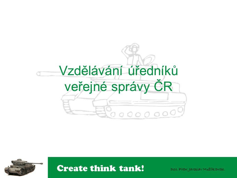 Create think tank! Doc. PhDr. Jaroslav Mužík DrSc. Vzdělávání úředníků veřejné správy ČR