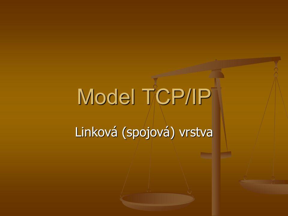 Model TCP/IP Linková (spojová) vrstva