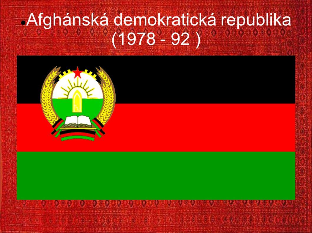 Afghánská demokratická republika (1978 - 92 )