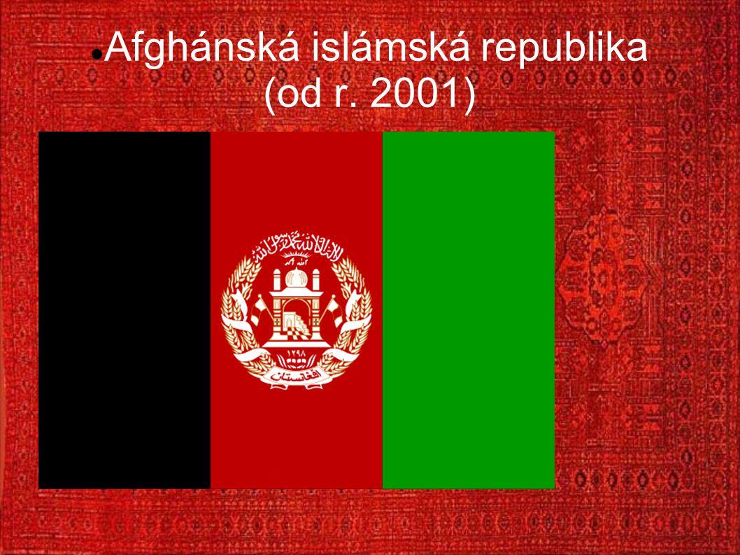 Afghánská islámská republika (od r. 2001)