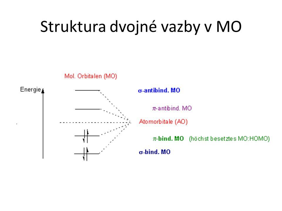 Struktura dvojné vazby v MO