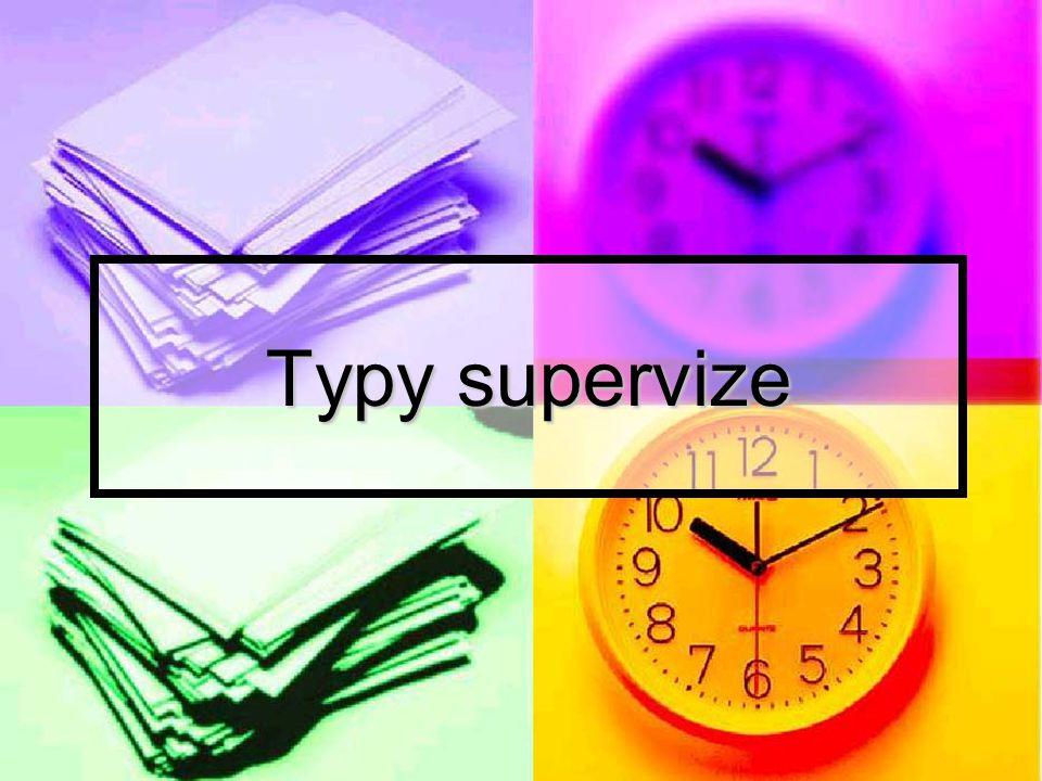 Typy supervize